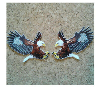 Eagle - American Eagle - Fully Embroidered Iron On Applique Patch - Set Of 2 for sale  Shipping to India