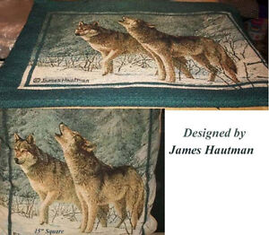 Wolves 4 Pillow Cases and Pillow