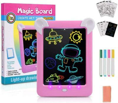 UK Toys For 3 4 5 6 7 8 9 10 Year Old Girls, LED Writing Tablet Birthday Gifts
