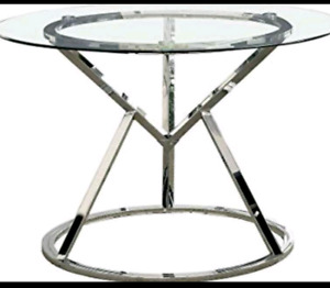 "45"" round glass table"