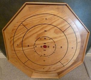 1960's BENTLEY'S Crokinole Board - 28 inch in Original box