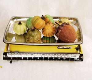 Vintage Soehnle German Solid Metal Baby Scale, Kitchen Scale