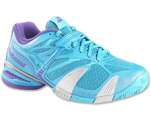 WOMEN'S BABOLAT PROPULSE 4 ALL COURT (BLUE / SILVER) TENNIS SHOE