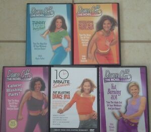 Dance Off Exercise DVD's - SET of 5- $20