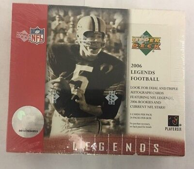 - 2006 Upper Deck Legends Factory Sealed Football Hobby Box