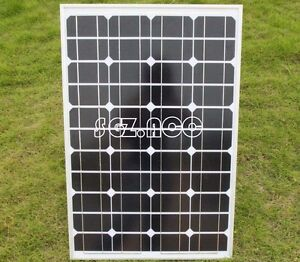 50 W MONOCRYSTALLINE SOLAR PANEL 50 WATTS BATTERY CHARGER 12V PV-with 3M New
