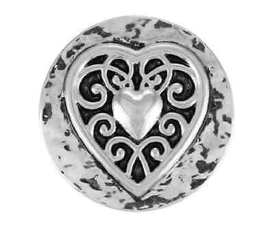 GINGER SNAPS™  VINTAGE HEART Jewelry - BUY 4, GET 5TH $6.95 SNAP FREE