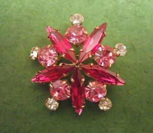 Vintage 1980s? Pink Story Sparkle Sweater Pin