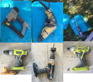 POWER TOOLS of all kinds - drills, saws, grinder, nail gun...