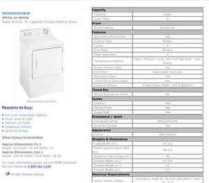Moffat Washer and Dryer pair
