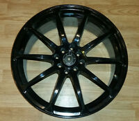 "Set of black alloy 18"" rims with dual bolt pattern 4x100 / 4x114"