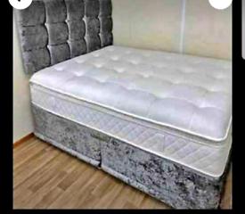 PREMIUM CRUSH VELVET BEDS WITH PREMIUM ORTHOPEDIC MATTRESS