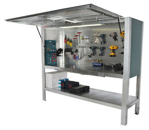 LOCKING WORKBENCH.STRONG LOCKABLE TOOL STORAGE CABINET.TOOL CRIB