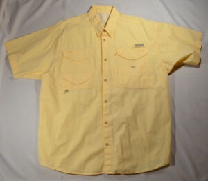 Mens Columbia PFG Bonehead Short Sleeve Vented Fishing Shirt
