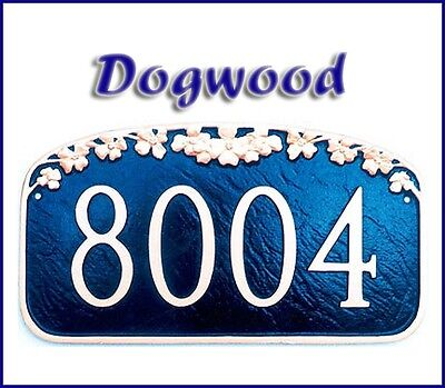 Montague Dogwood Personalized Address Plaque Marker in 20 Colors Free -