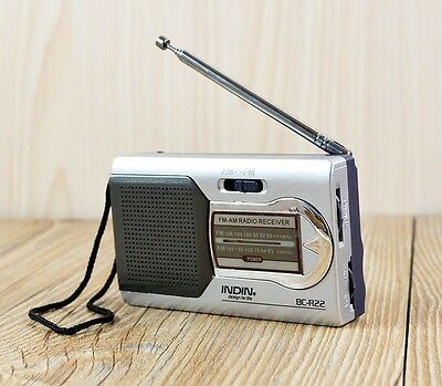 Portable AM/FM Telescopic Antenna Radio World Receiver Battery Powered