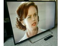 "JVC 50"" Slim FULL HD INTERNET LED TV WITH FREEVIEW HD. REMOTE CONTROL NEW CONDITION"