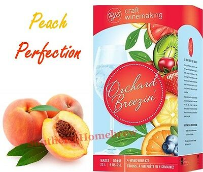 RJ Spagnols Orchard Breezin Peach Perfection Chardonnay Wine Making kit