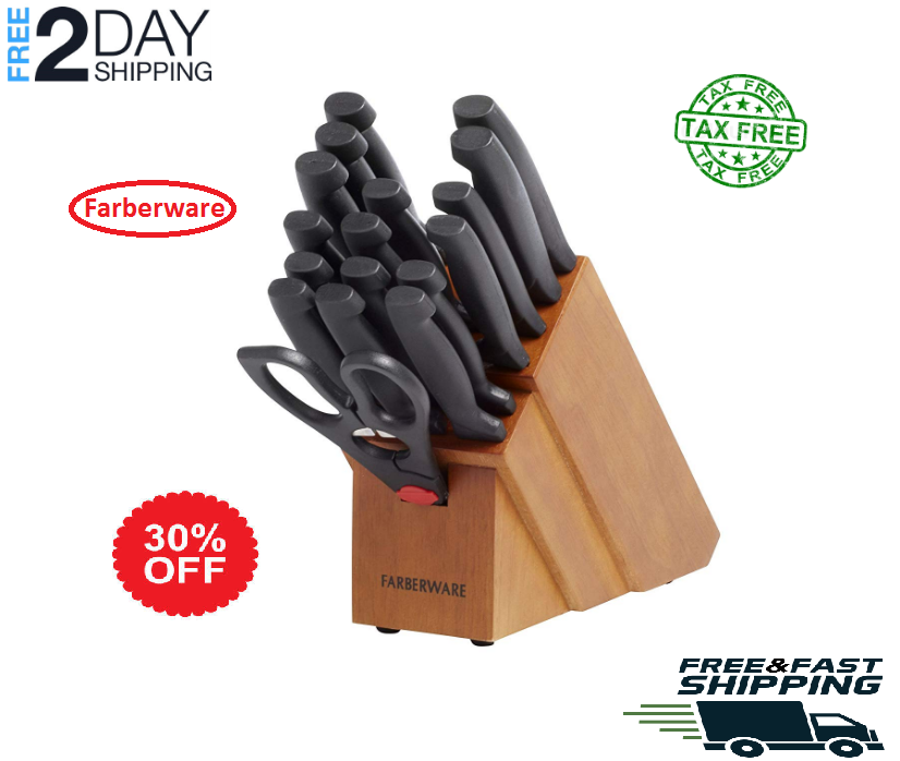 Farberware 18-Piece Forged Stainless Steel Knife Set  Never