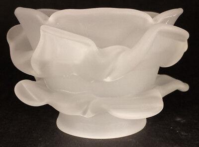 New Short Satin Crystal Glass Rose Petal Fixture Lamp Shade 2 1/4