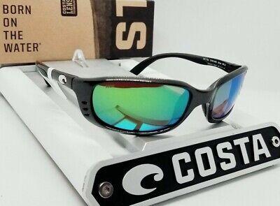 COSTA DEL MAR gunmetal/green mirror BRINE POLARIZED 580P sunglasses! NEW IN (Costa Del Mar Brine Sunglasses)