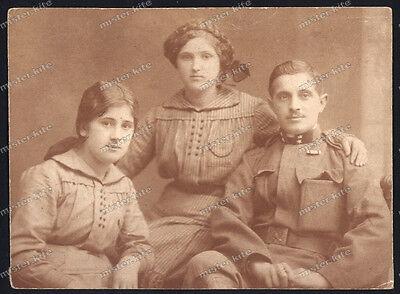 Vintage Photo-portrait-Young-cute-Girl-teen-Offizier-Frau- ()