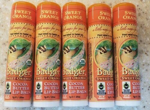 Badger Sweet Orange Cocoa Butter Lip Balm