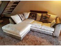 Dylan crushed velvet corner/3+2 sofa brand new