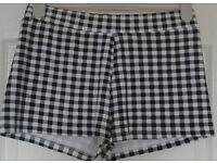 Black And White Checked Shorts, 14