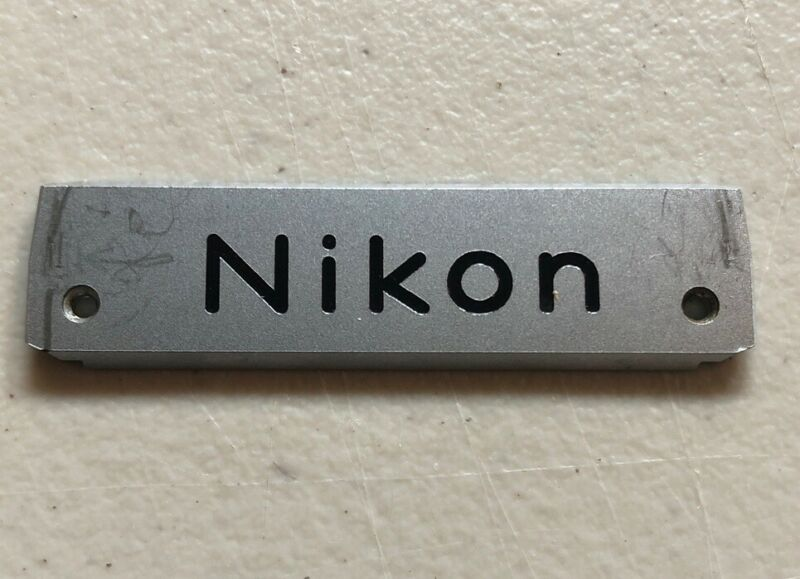 Genuine - Nikon F 35mm Film SLR Camera Front Plate