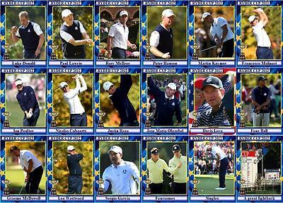 2012 Ryder Cup Golf Trading Cards - European Squad Medinah
