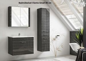 badm belset badm bel viento 80 cm mit waschbecken hochglanz ebay. Black Bedroom Furniture Sets. Home Design Ideas
