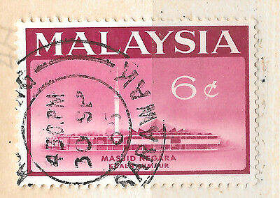 posted 30th September 1965 -  Malaysia stamp - see scan