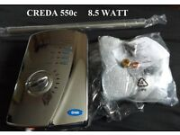 Electric Shower Creda 550C 8.5kW Chrome Silver Chrome Spares Or Repair.