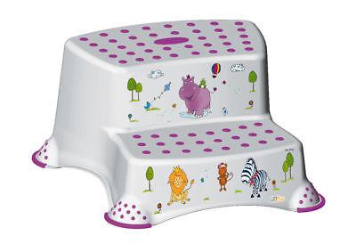 KinderTritthocker zweistufig  Hippo weiß Hocker Trittschemel Schemel