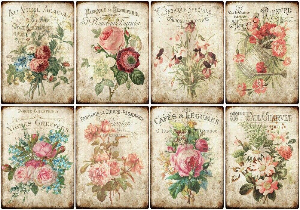 Decoupage-Bastelpapier-Softpapier-Serviettentechnik-Vintage-Nostalgie-12386