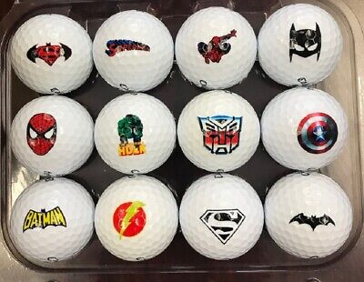 3 Dozen (Super Hero Collection Logos) Callaway Super Soft MINT/AAAAA Golf Balls