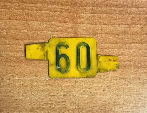 Vintage Delaware 60 License Plate Date Tab Tag Ford Chevy Hot Rod Rat Rod