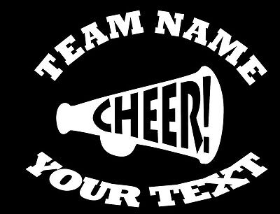 Cheerleading Bumper Stickers (Personalized CHEERLEADING Decal - (C) Custom Vinyl Bumper Sticker Car Window )