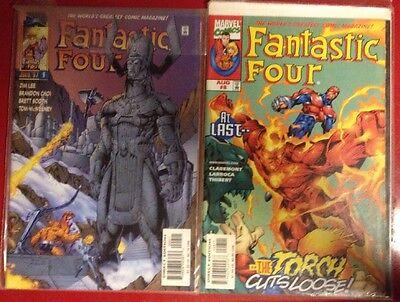 World's Greatest Magazine Fantastic Four 8 Aug 98 9 Jul 97 lot of 2 marvel comic