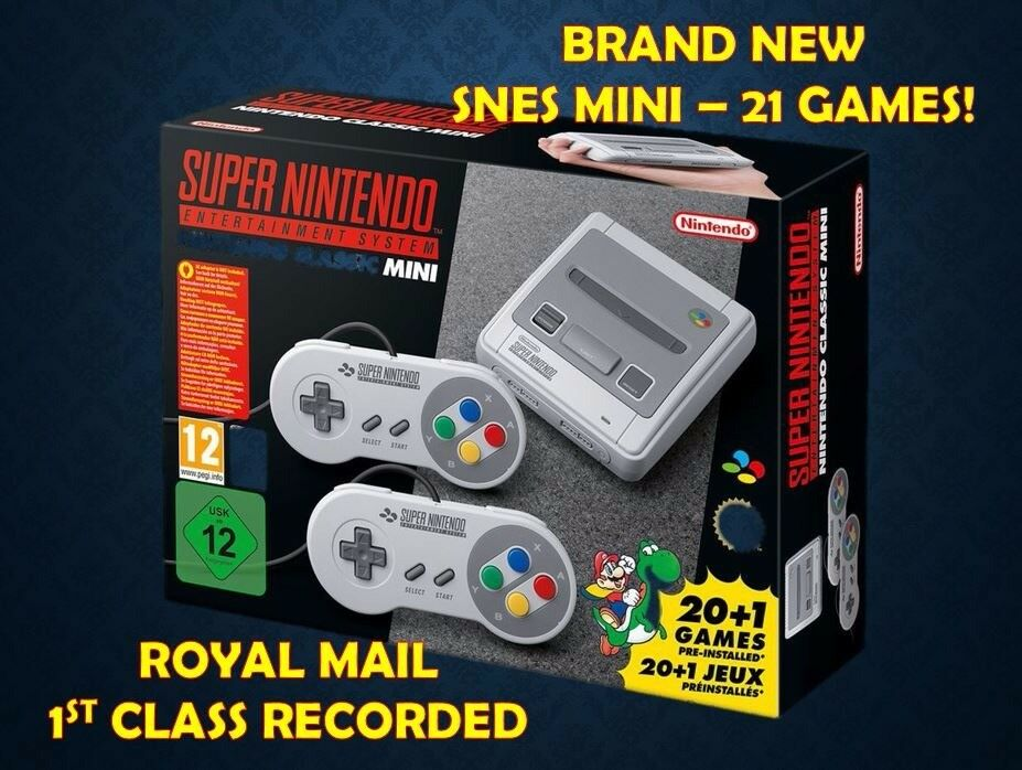 🔥 BRAND NEW Super Nintendo SNES Mini Classic with 21 Games - FAST DISPATCH 🔥
