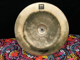 18 INCH STAGG DH CHINA CYMBAL IN GOOD CONDITION. HARDLY USED £50 ONO