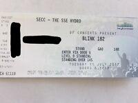 1 X VIP Soundcheck Ticket For Blink 182 - Glasgow - 11/7/17