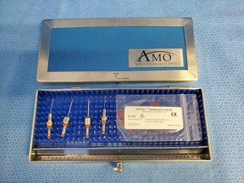 Set of 4 AMO Opthalmic Irrigation & Aspiration Tips w/ PhacoFit Extras