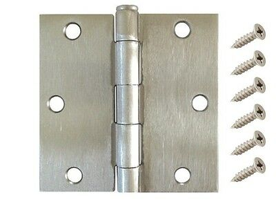 "30 Pack 3.5"" Satin Nickel Interior Door Hinges with Square Corner DH3590 Hinge"