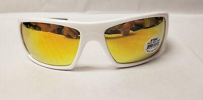 Stihl White Ice Safety Glasses Orange Mirror 0367