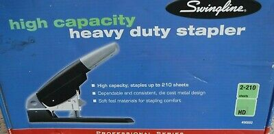 Swingline Heavy Duty Stapler High-capacity 210 Sheet Capacity Black