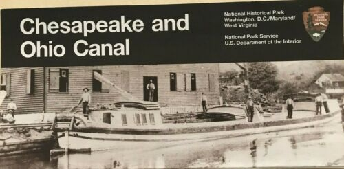 CHESAPEAKE and OHIO CANAL C & O  NATIONAL PARK SERVICE UNIGRID BROCHURE  Map  #A