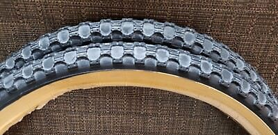 """International old bmx black tan wall 20"""" tires pro freestyle cycle pro gt hutch"""