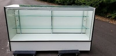 """Retail Light Up Glass Showcase 70×18x38"""" Display Case PICK UP ONLY"""